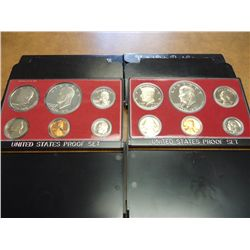 1975 & 76 US PROOF SETS (WITH BOXES)