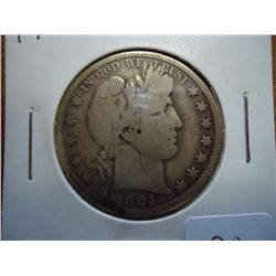 1901-O BARBER HALF DOLLAR (VERY GOOD)