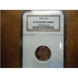 2000-S JEFFERSON NICKEL NGC PF70 ULTRA CAMEO