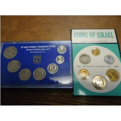 1967 & 80 ISRAEL MINT SETS ORIGINAL MINT PACKAGING