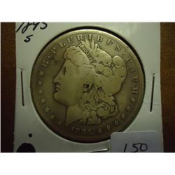 1895-S MORGAN SILVER DOLLAR (KEY DATE)