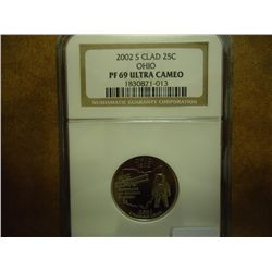 2002-S OHIO QUARTER NGC PF69 ULTRA CAMEO