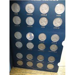 PARTIAL JEFFERSON NICKEL SET 64 COINS