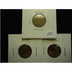 1911-D (FINE),1913-D (VG) & 1923 (EF) LINCOLN'S