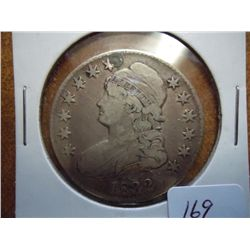 1832 BUST HALF DOLLAR PLUGGED