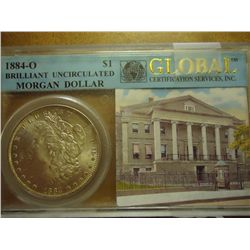 1884-O GLOBAL BRILLIANT UNC MORGAN SILVER DOLLAR