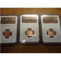 3-2009 BIRTH & CHILDHOOD LINCOLN CENTS NGC BU