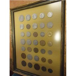 NIFTY PUT TOGETHER FRAMED COIN SET (AS SHOWN)