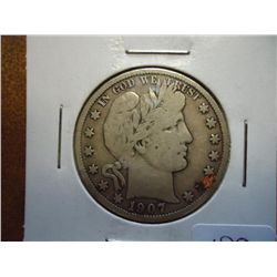 1907-O BARBER HALF DOLLAR (VERY GOOD)