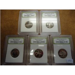 ALL 5 1999-S STATE QUARTERS INB DCAM PROOFS