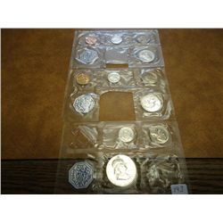 3 PARTIAL US SILVER PROOF SETS SEE DESCRIPTION