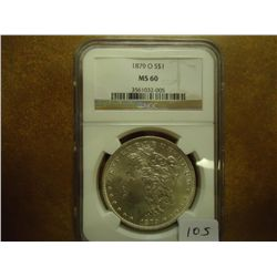 1879-O MORGAN SILVER DOLLAR NGC MS60