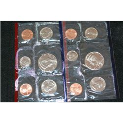 1991 US Mint Coin Set, P&amp;D Mints, UNC