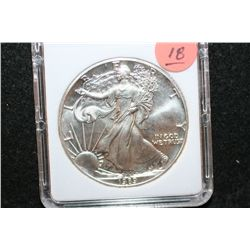 1989 Silver Eagle $1, MCPCG Graded MS70