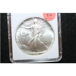1992 Silver Eagle $1, MCPCG Graded MS70