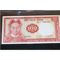 Vietnam 100 Mot Tram Dong Foreign Bank Note