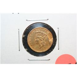 1856 Indian Princess $1 Gold Coin, Type III, Repaired