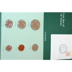 Canada; Coin Sets of All Nations W/Stamp Dated 1983