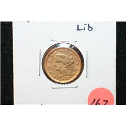 1851 Liberty $2 1/2 Gold Coin, Repaired