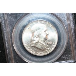 1961-D Ben Franklin Half Dollar, PCGS Graded MS63FBL