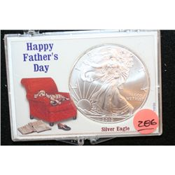 "2010 Silver Eagle $1, ""Happy Father's Day"""