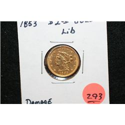 1853 Liberty $2 1/2 Gold Coin, Damage