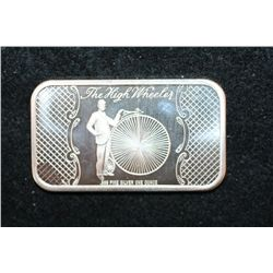 The High Wheels Silver Ingot, .999 Fine Silver 1 Oz., Madison Mint