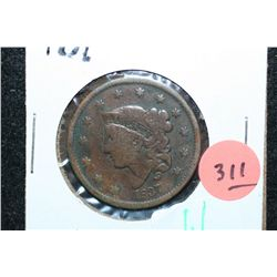 1837 Large One Cent