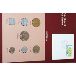 Antigua; Coin Sets of All Nations W/Stamp Dated 1983