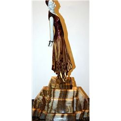 Book Lady - Bronze and Ivory Sculpture by Chiparus