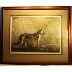 Dennis Curry Hand Signed and Numebred Original Mylar Lithograph - Morning Hunt