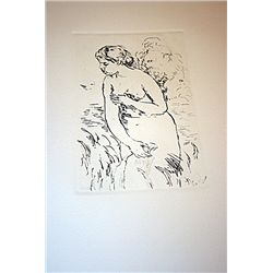 Renoir Posthumous Etching - The Bather
