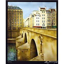 Renoux Hand Signed Limited Edition Lithograph   Bridge