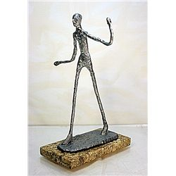 Real Silver Alberto Giacometti  Limited Edition- Walking Man
