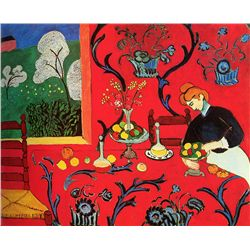 The Red Room - Matisse - Limited Edition on Canvas