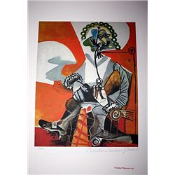 Limited Edition Picasso - Buckled Shoed Man - Collection Domaine Picasso