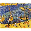 Image 1 : Boats at Collioure - Andre Derain - Limited Edition on Canvas