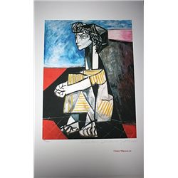 Limited Edition Picasso - Portrait of Jacqueline Roque with Arms Crossed - Collection Domaine Picass