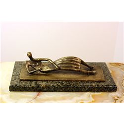 Henry Moore Limited Edition Bronze - Thin Reclining Figure