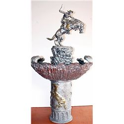Platinum Gold Bronze Buster Fountain Remington