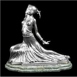 Original Fine Silver Sculpture - Clara by Chiparus