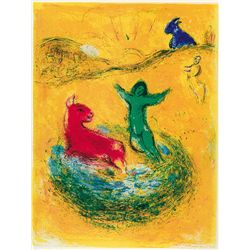 The Wolf Pit- Chagall - Limited Edition on Canvas