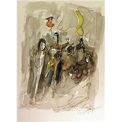 Original Watercolor by Chagall