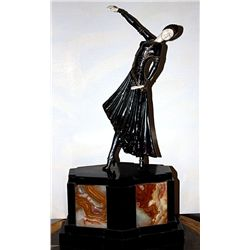 Damascene - Bronze and Ivory Sculpture by Chiparus