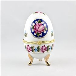 Hand Painted Porcelain Trinket Box