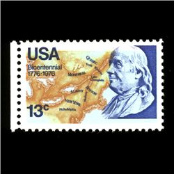 1976 RARE US Postage Stamp ERROR Mint (STM-0011)