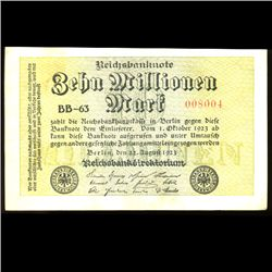 1923 Germany 10000000 Mark High Grade Note (COI-3980)