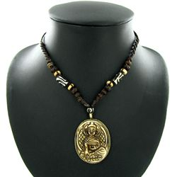Tibet Bone Nickel Pendant Choker Necklace (ANT-1320)