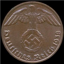 1938E Germany 1pf MS65 (COI-9924)