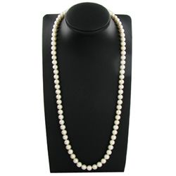 Saltwater White Matched Pearl Necklace 10mm (JEW-3780)